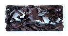 19th Century Japanese Keyaki Wood Carving