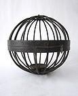 Antique Japanese Circular Iron Lantern
