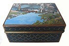Antique Japanese Cloisonne Box with Inaba Mark