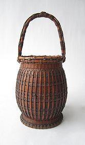 Antique Japanese Woven Bamboo Basket