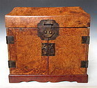 Antique Chinese Burl Storage Box