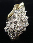 Antique 5.5 cttw Diamond Cluster Ring