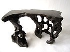 Antique Chinese Natural Burl Hardwood Stand