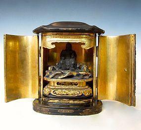 Antique Japanese Zushi Traveling Shrine