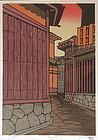 Japanese Woodblock Print by Katsuyuki Nishijima