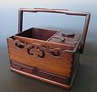 Japanese Antique Hardwood Tobacco Box
