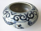 Antique Chinese Blue and White Porcelain Water Coupe