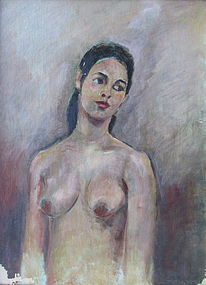 Oil Painting of Nude Maiden by Chen Danqing
