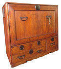 Antique Japanese Hinoki Hon (Book) Tansu