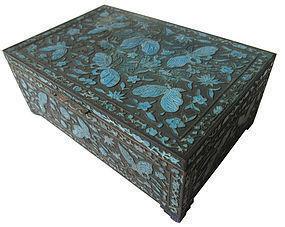 Antique Chinese Cloisonne Box w/ Butterflies