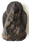 Antique Nepalese Clay Monk Sculpture
