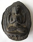 Antique Nepalese Clay Vishnu