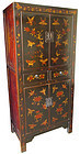 Chinese Hand Painted Lacquer Cabinet