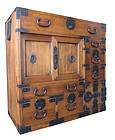 Japanese Antique Hinoki Choba Tansu (Merchant's Chest)