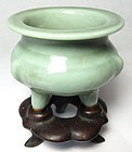 Antique Chinese Ceramic Censer on Stand