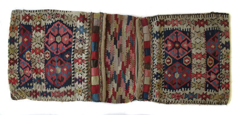 Antique Kurdish Kilim Saddle Bag