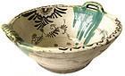 Large original Antique Japanese Oribe Bowl