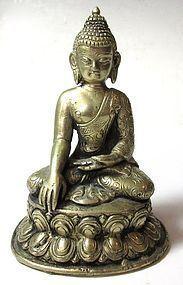 Antique Himalayan Bronze Buddha