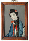 Antique Chinese Reverse Glass Painting