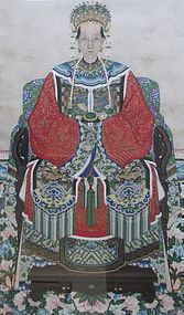 A Pair of Large Chinese Ancestor Portraits