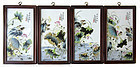 Antique Chinese Set of 4 Porcelain Plaques