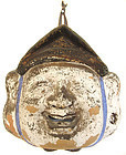 Japanese Low Fire Ceramic Mask of Ebisu