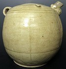 Antique Vietnamese Celadon Ceramic Tea Pot