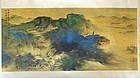 Chinese Gold Landscape Painting