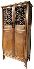 Antique Chinese Hardwood Cabinet