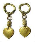 Ancient Korean Gold Earrings,  Silla Kingdom, Three Kingdoms Period