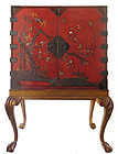 Antique Japanese Rare Inlaid Lacquer Chest