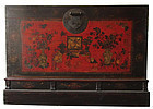 Antique Tibetan Lacquer Trunk
