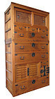Japanese Large Two Section Choba Tansu (Merchant's Chest)