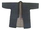 Japanese Antique Indigo Ikat Happi Coat