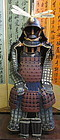 Japanese Edo Period Suit of Samurai Armor with Dragonfly meadate