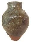 Antique Japanese Large Ceramic Jar