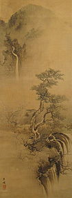 Japanese Landscape Scroll