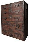 Original Japanese Antique Isho Tansu from the Matsumoto Area
