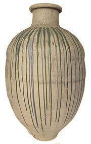 Large Antique Japanese Shigaraki Jar