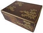 Antique Japanese Gold Lacquer Incense Box