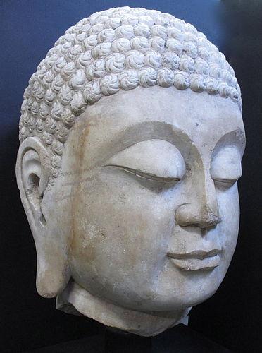 Massive 18th Century Chinese Marble Buddha Head