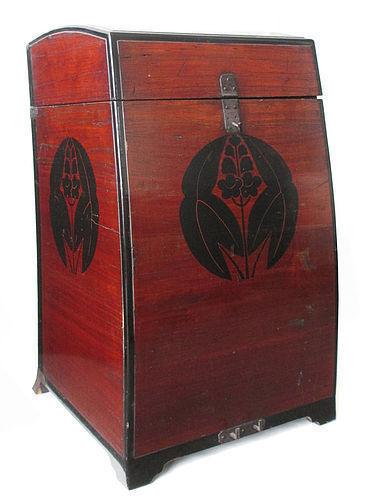Rare Japanese Antique Samurai Armor Carrying Box (Gusoku Bitsu)