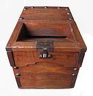 Japanese Antique Keyaki Money Box (Zenibako)
