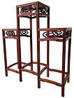 Chinese Three Tiered Hardwood Stand