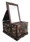 Chinese Mother of Pearl Inlaid Hardwood Mirror Box