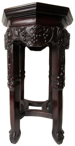 Chinese Hardwood Octagonal Stand
