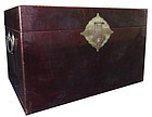 Original Chinese leather wrapped Trunk