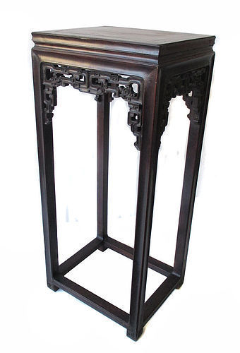 Chinese Republic Period Tall Hardwood Stand