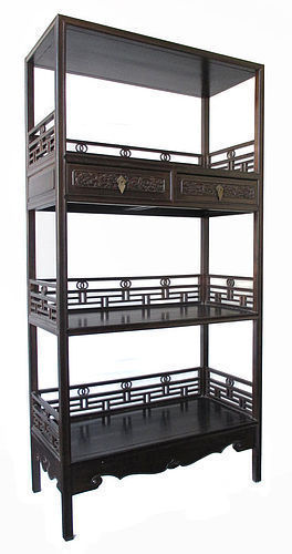 Chinese Antique Jichimu Wood Display Shelf