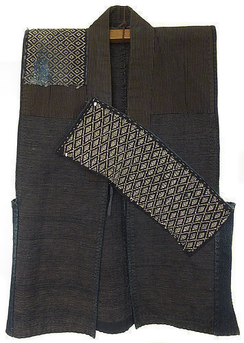 Antique Japanese Embroidered Indigo Sled Vest